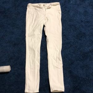 Hollister super skinny white jeans